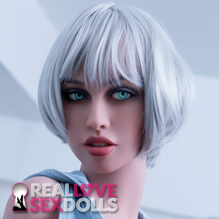 light gray pixie wig with bangs for premium TPE love dolls