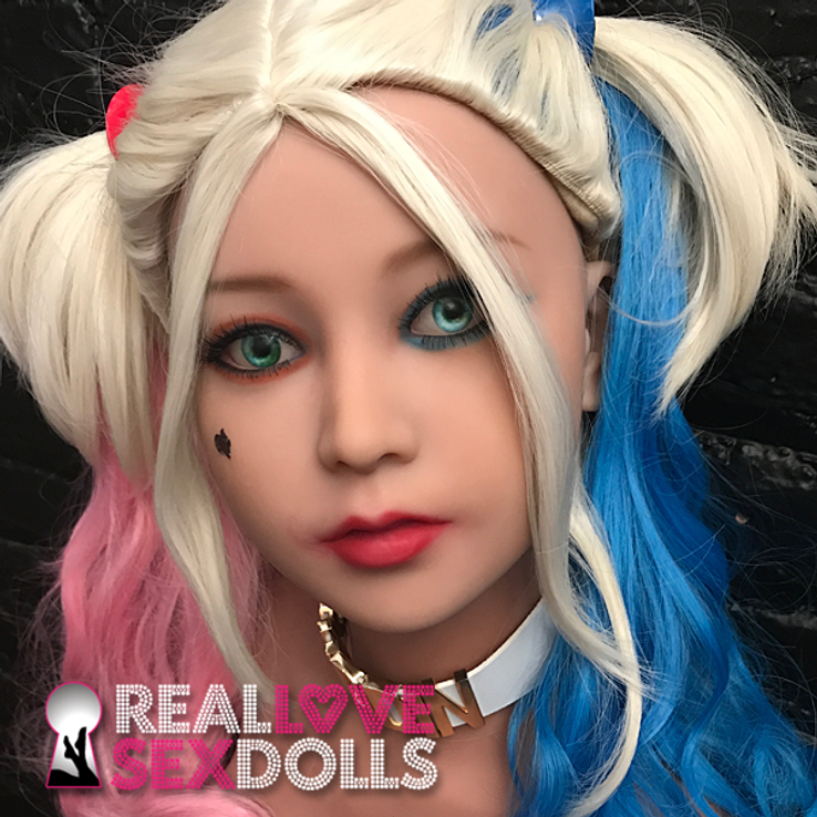 Manic anti-hero Harley Cosplay wig for premium TPE sex dolls