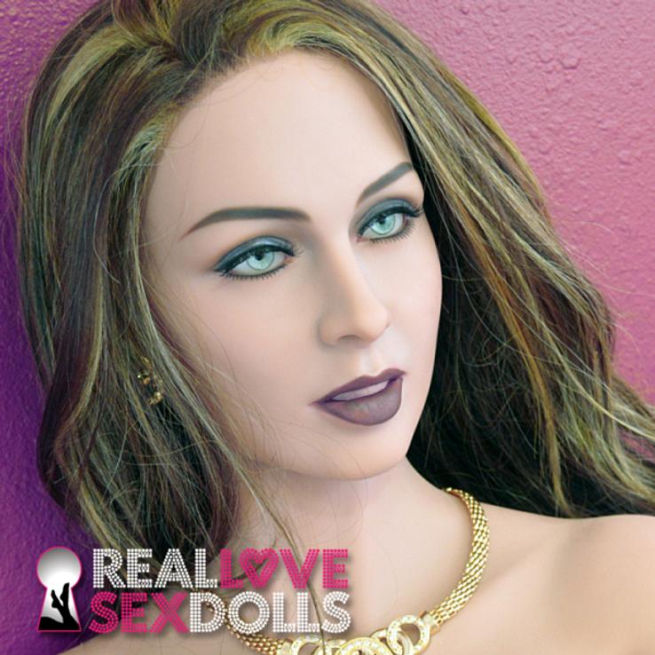 mature seductive premium TPE love doll head #152