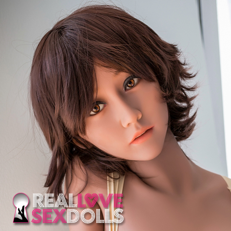 Messy brunette pixie hairstyle for premium TPE sex dolls as seen on Blair