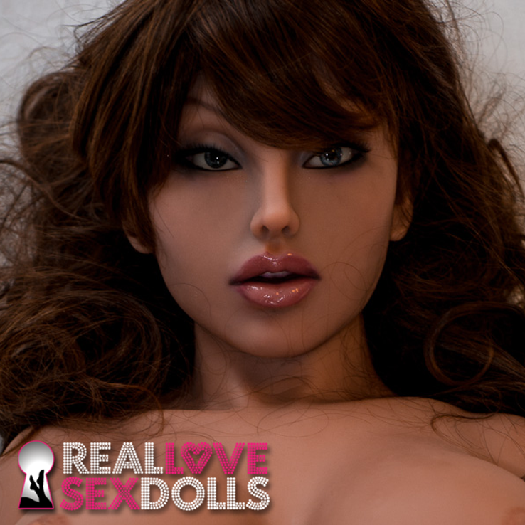 Realistic sexy sex doll head #58 with full lips and smoldering eys