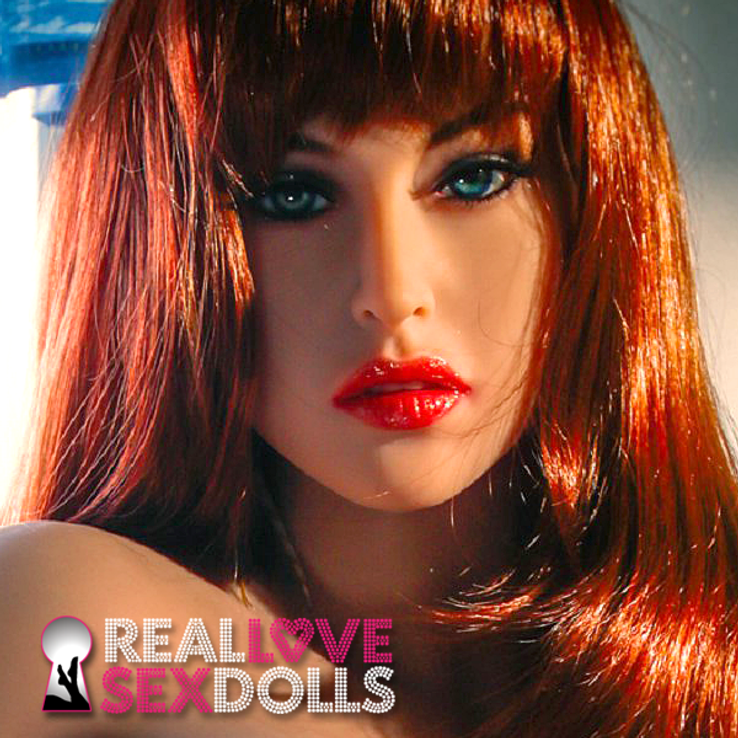Alluring glamorous pin-up model premium TPE sex doll head #129