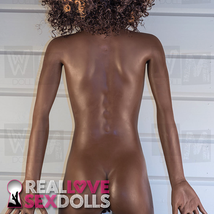 Realistic African American Black Sex Doll, lifelike dutch wife TPE love doll
