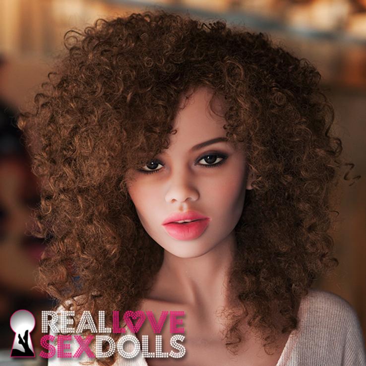 sex doll head #64 shown in tan