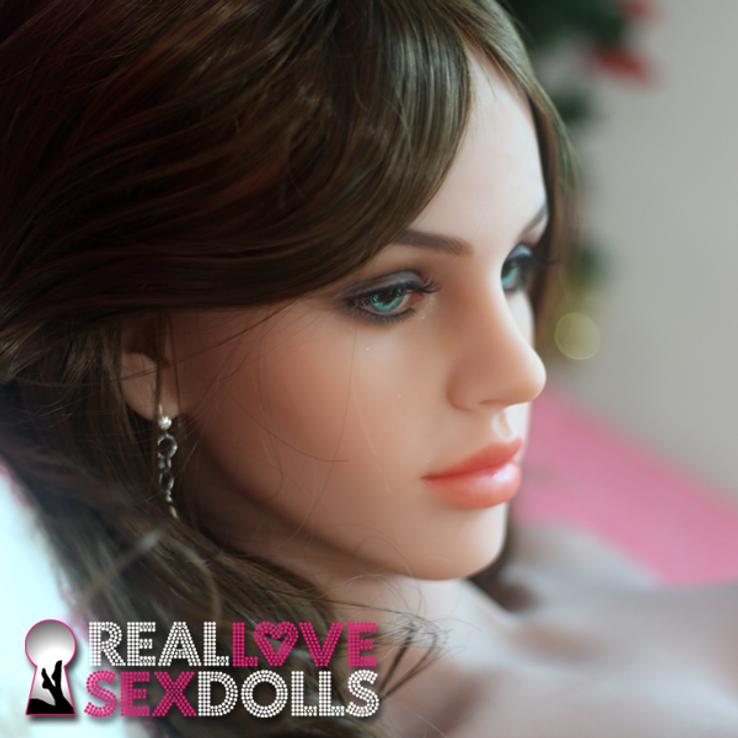 sex doll head #82 brunette