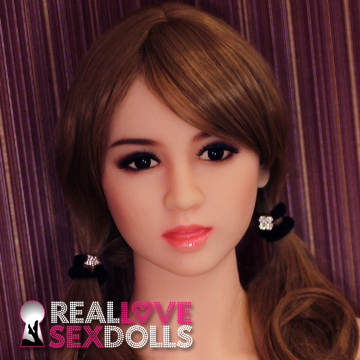 Girl next door life like TPE sex doll head #98