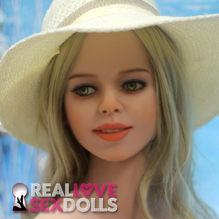 Lovely smiling beautiful premium TPE sex doll head #134