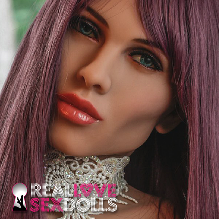 Sultry life-like premium TPE sex doll head #84