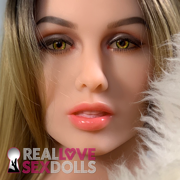 Lusty sexpot premium TPE sex doll head #149