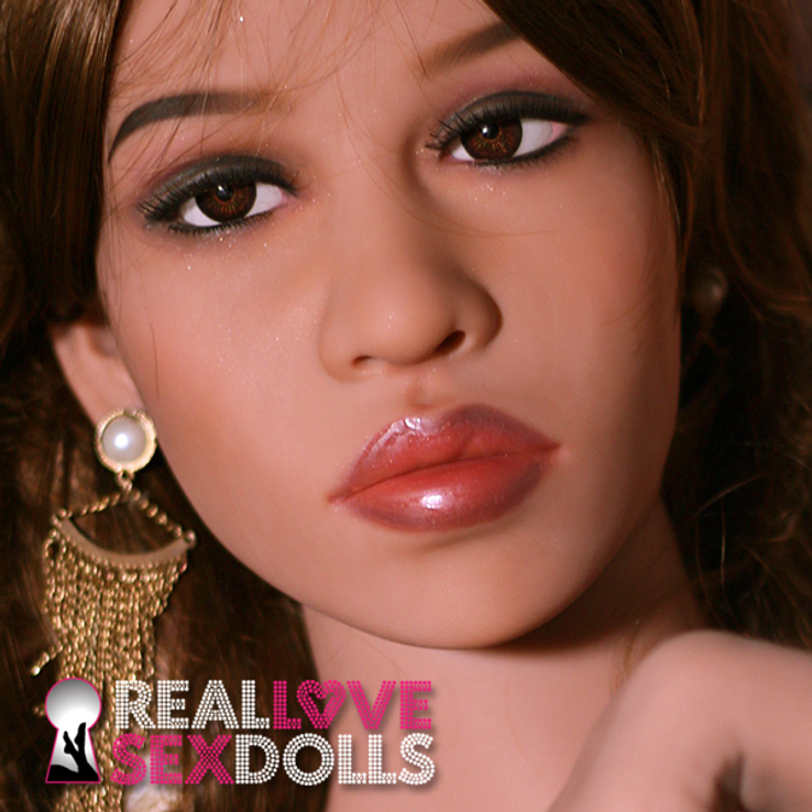 Stunning sophisticated realistic TPE sex doll head #127
