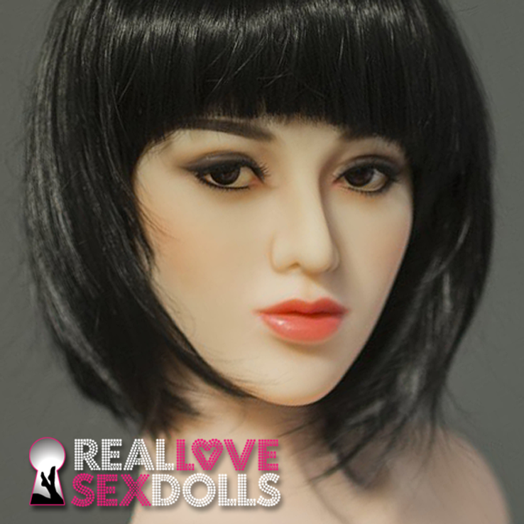 Young vibrant beauty premium TPE sex doll head #97
