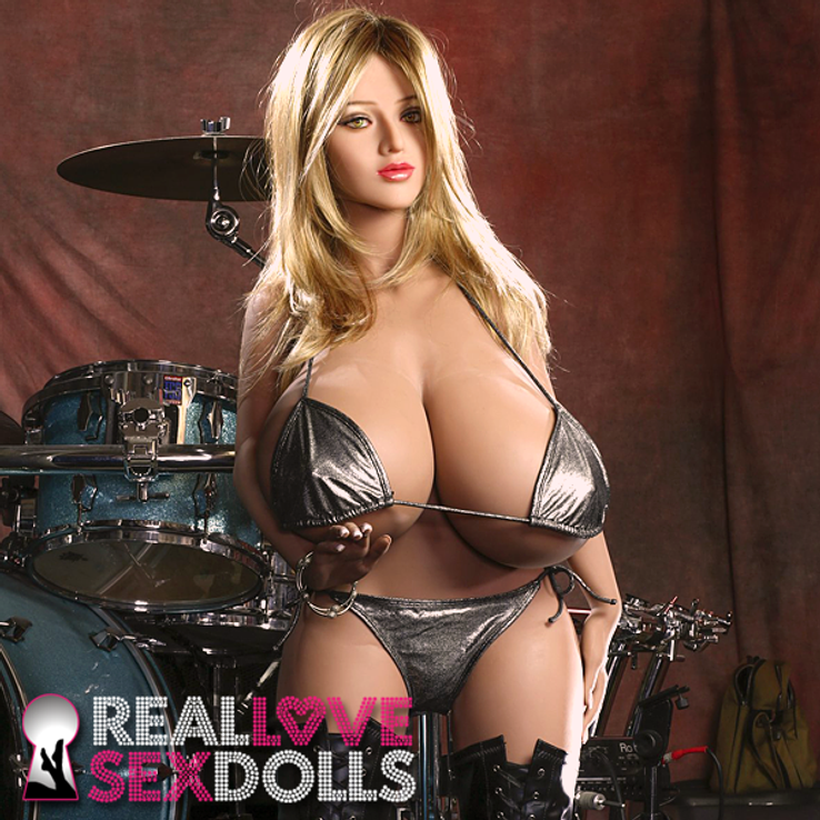 Huge O-cup boobs band groupie life like TPE sex doll Penny