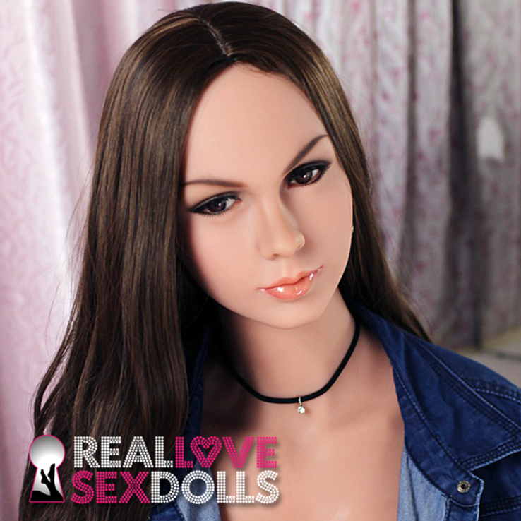 High quality long brown wig for premum TPE sex dolls