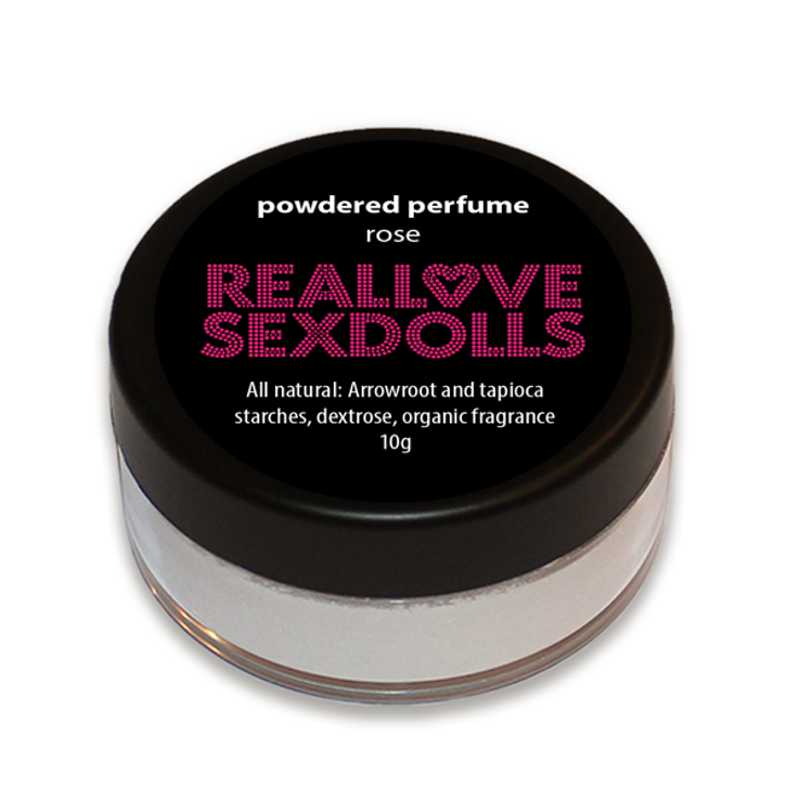 Rose scented powdered perfume for love dolls by Real Love Sex Dolls.