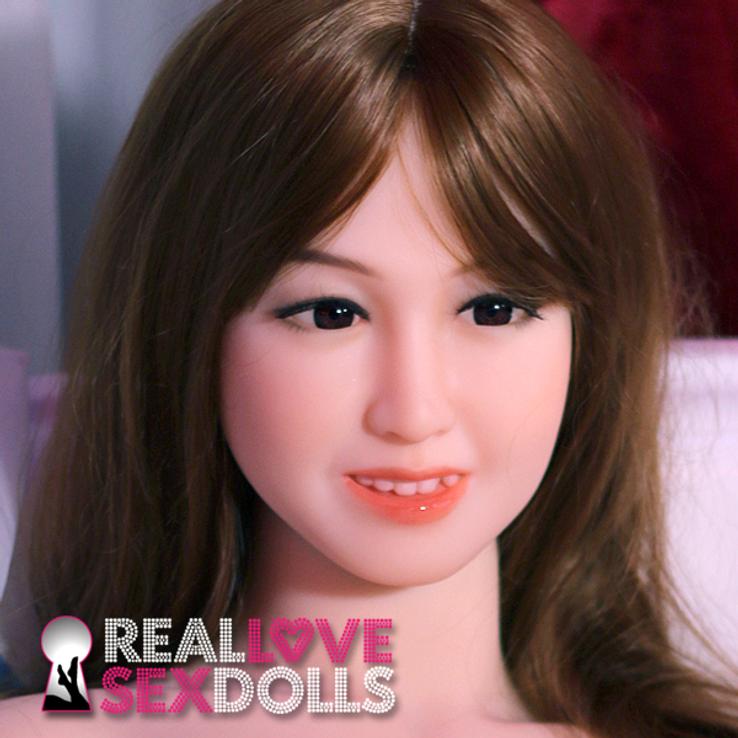 Cute approachable Asian girl next door premium TPE sex doll head #170