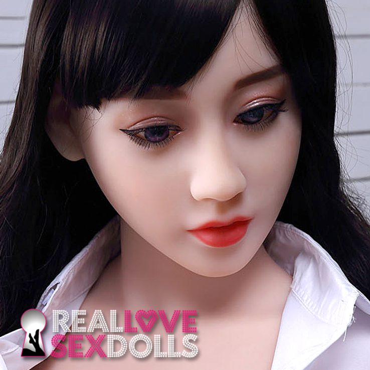 Shy and seductive life-like Asian TPE love doll head #106