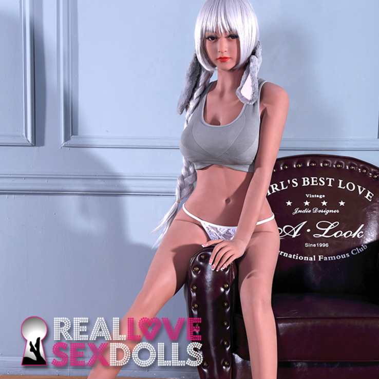 Punk rock Ramona life-like TPE sex doll 158cm D-cup girlfriend