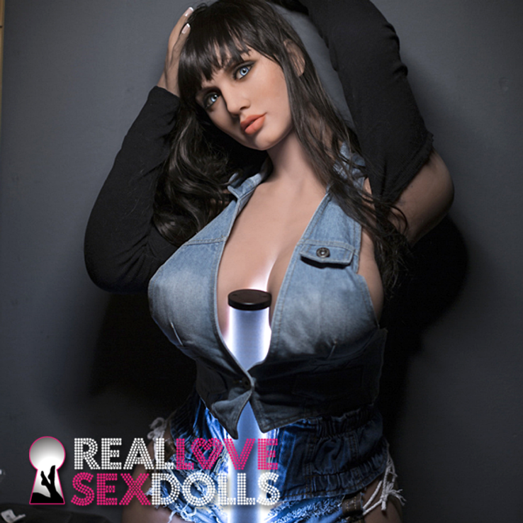 Voluptuous hot lover stunning big thick beauty life-like TPE sex doll 163cm H-cup Miranda