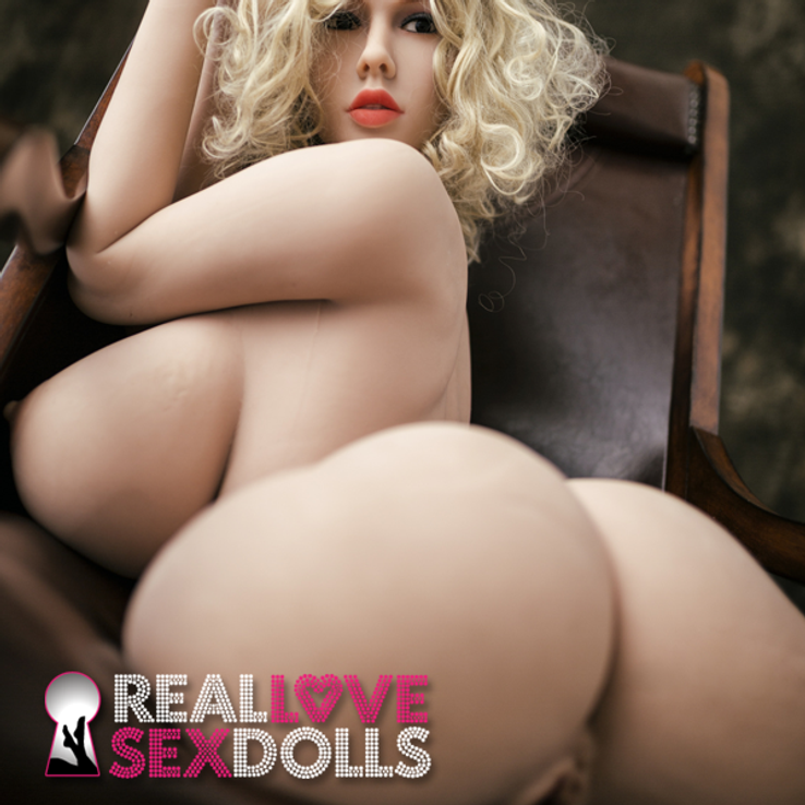 Sexy ultra busty fuck toy lover premium TPE sex doll torso with arms Rita