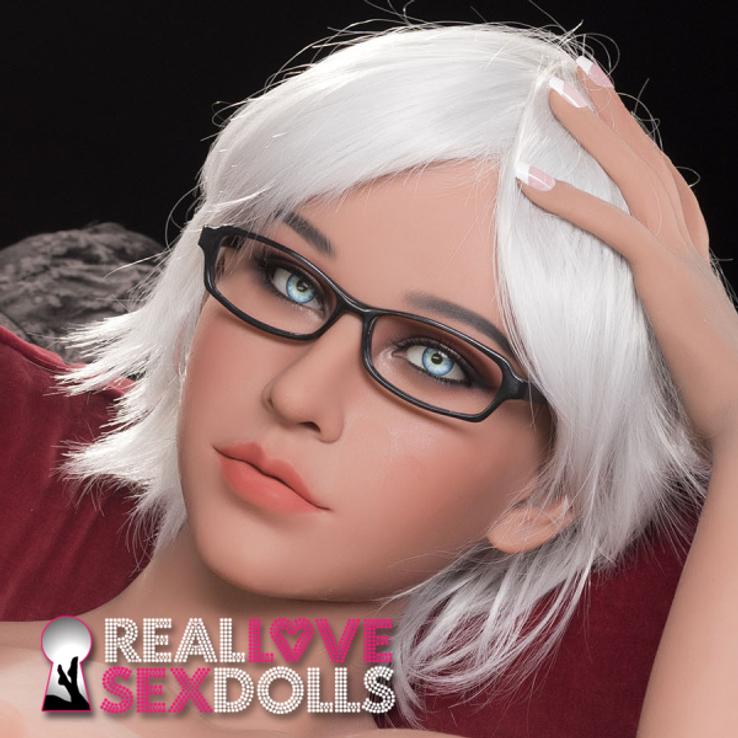 Short messy white center part premium wig for realistic TPE love dolls