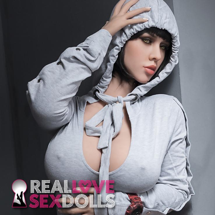 Sex Doll Jasmine, Gray Hooded Romper
