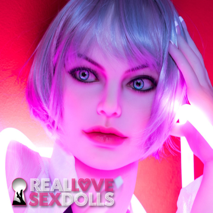 Sexy cyberpunk lover edgy futuristic premium TPE sex doll replacement head #168