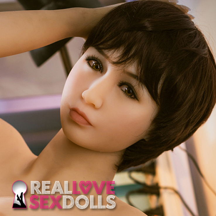 Girl next door saucy lover life-like TPE replacement sex doll head #235