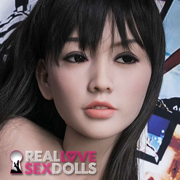 Hot Asian girlfriend life-like premium TPE sex doll replacement head #76
