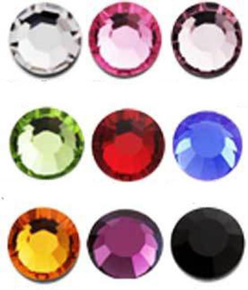 Rhinestone Assorted 9 Colors - 1800ct