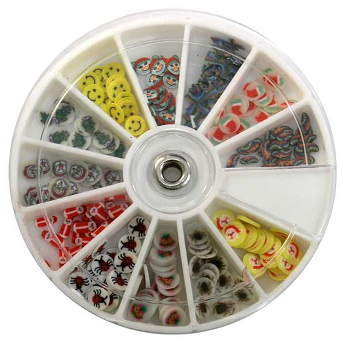 Fimo Nail Art Polymer Sliced Clay Canes - Assorted 240/ct