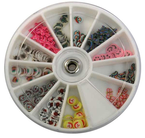 Fimo Nail Art Polymer Sliced Clay Canes - Assorted Bugs