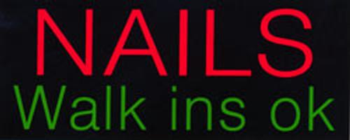 Neon Sign - Nails Walkins