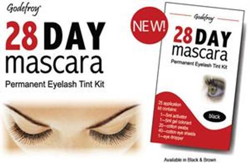Godefroy 28 Day Mascara Permanent Eyelash Tint Kit: - Brown Color