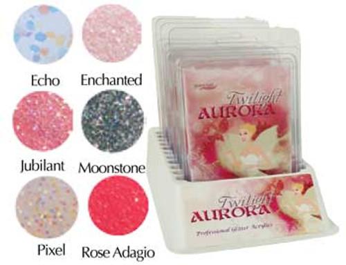 Supernail Glitter Acrylic Twilight Aurora Kit
