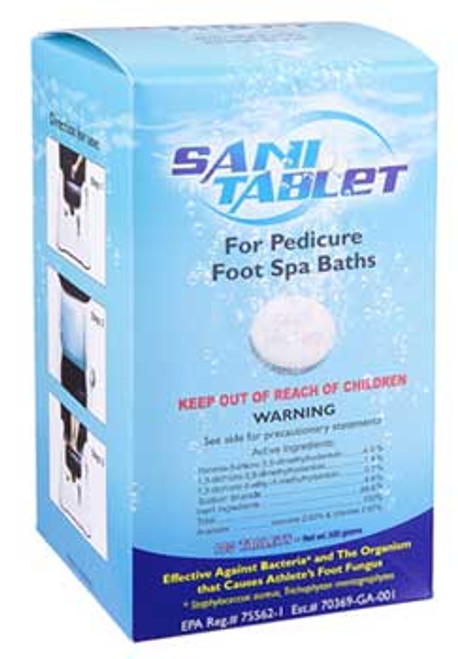 Sani-Tablet For Pedicure Foot Spa Baths - 100ct