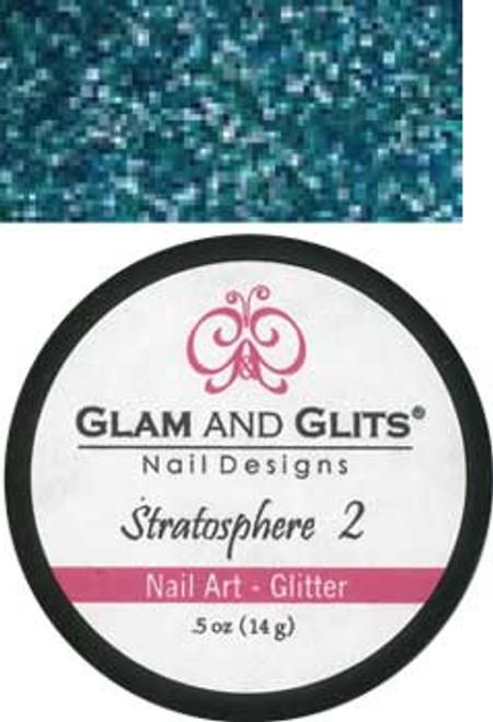 Glam & Glits Nail Art Glitter: Blue Jewel - 1/2 oz