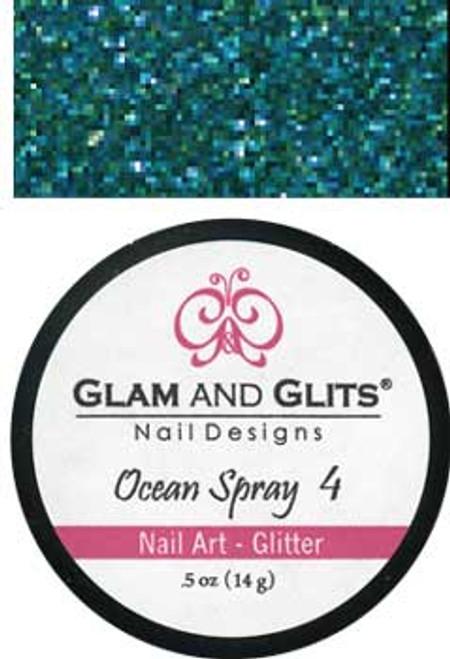 Glam & Glits Nail Art Glitter: Ocean Spray - 1/2 oz