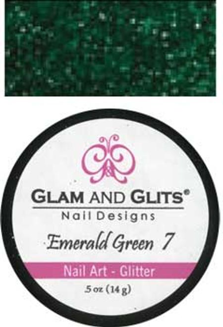 Glam & Glits Nail Art Glitter: Emerald Green - 1/2oz