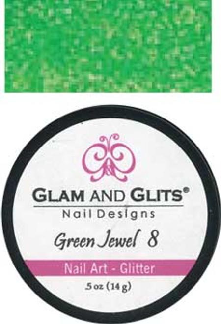 Glam & Glits Nail Art Glitter: Green Jewel - 1/2 oz