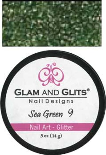 Glam & Glits Nail Art Glitter: Sea Green - 1/2oz