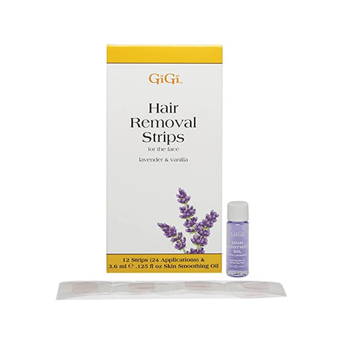 GiGi Hair Removal Stripes for the Face - 12 Pre-Waxed Strips