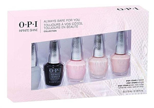 OPI Always Bare For You Infinite Shine Collection 5 pcs Mini Pack