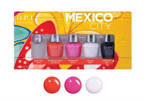 OPI Mexico City Infinite Shine Collection 5 pcs Mini Pack