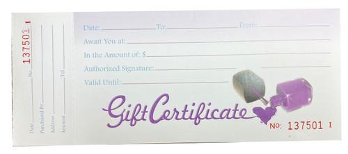 Gift Certificates / Nail Polish Bottle - 50ct