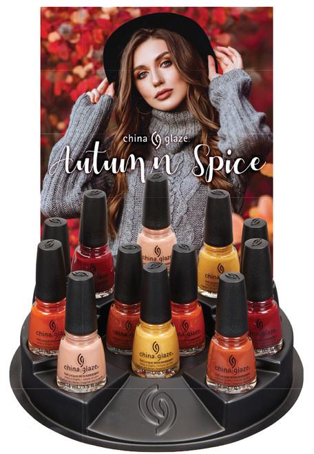 China Glaze Nail Polish Autumn Spice Fall 2021 Collection - 12 Piece Display