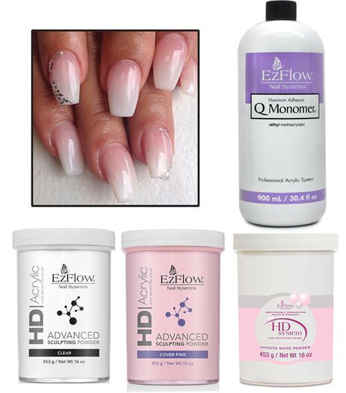 Ombre Nails Design Powders and Liquids