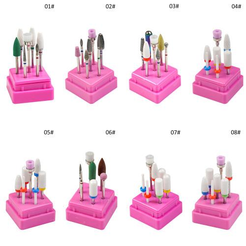 NDi beauty Carbide Bit Set 7 PCS - 3/32 Shank