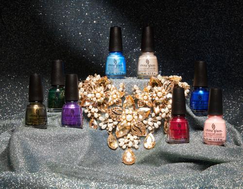 China Glaze Nail Polish Jewels Royal  2021 Holiday Collection - 12 PC Display