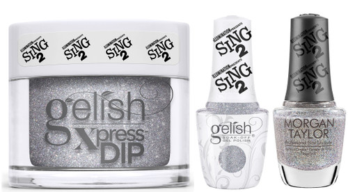 Gelish Trio Set Coming Up Crystal (Gel + Dip + Lacquer)