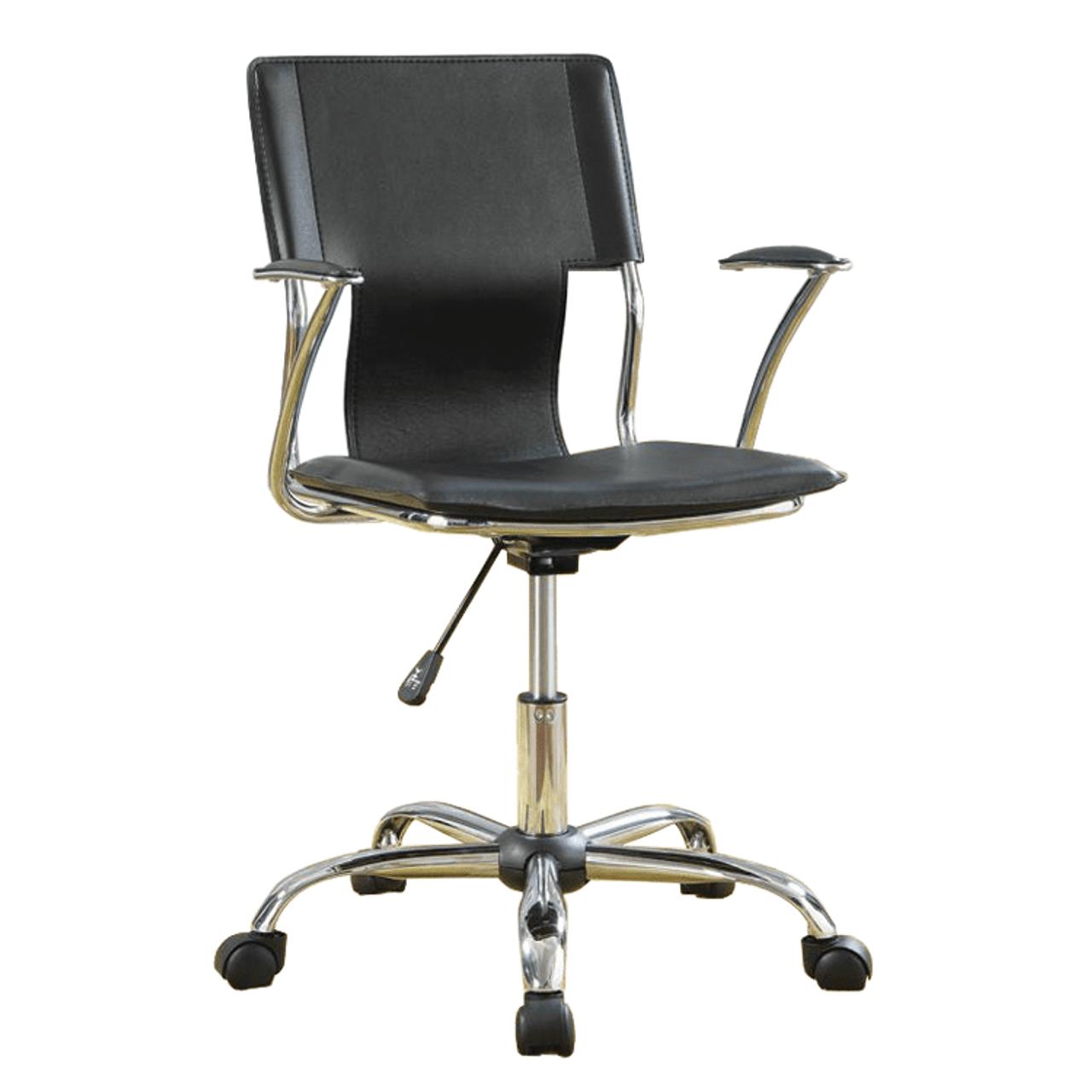 Image of: Coaster 800207 Swivel Desk Chair Black Tucker S Valley Furniture